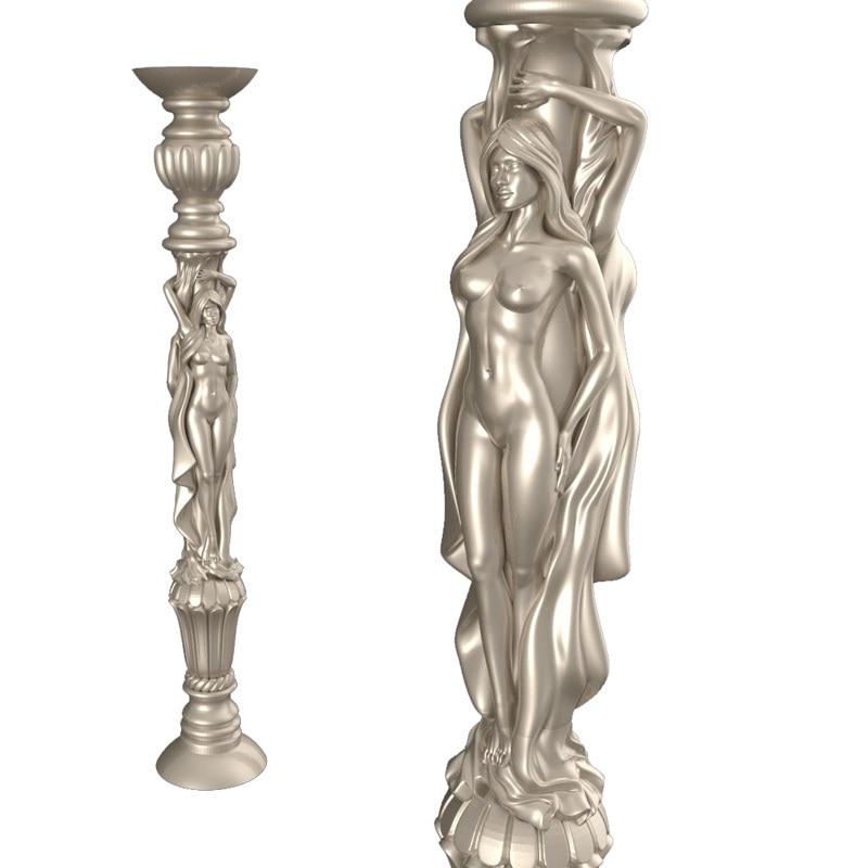 Naked woman pillars_2 3d модель STL рельеф для ЧПУ STL формат голая женщина 3d модель для ЧПУ stl рельеф artcam vectric aspire