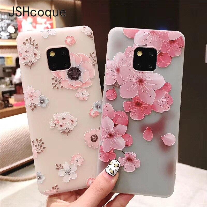 Mate 10 Case TPU 3D Emboss Flower Phone Case Cover for Huawei Mate 10 Pro Mate 20 Pro Capa for Huawei P10 Plus P20 Pro Lite Etui