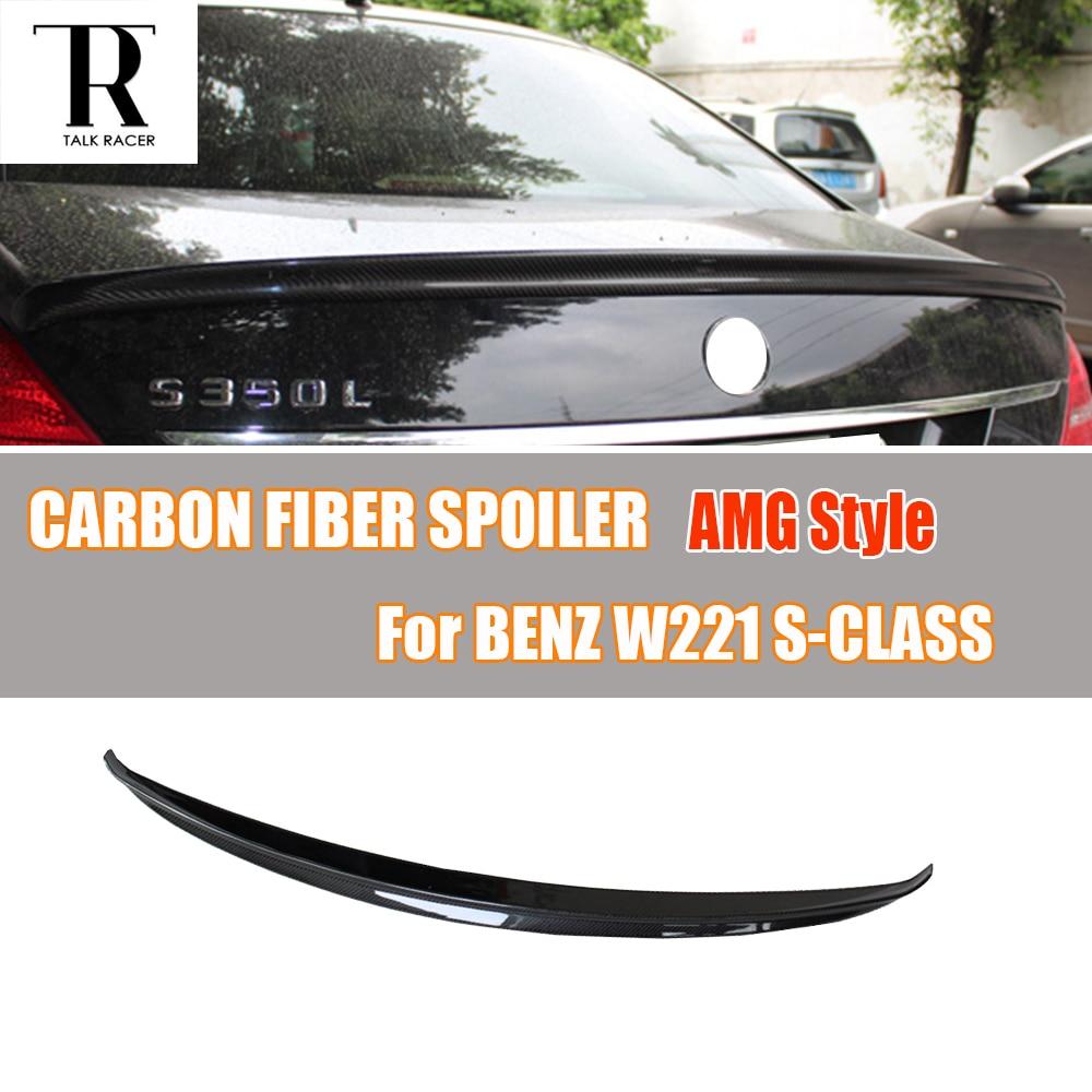 W221 S-CLASS AMG estilo fibra de carbono posterior tronco ala Spoiler para Mercedes Benz W221 S300 S350 S500 2005-2013