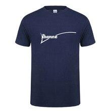 Zomer Nieuwe Ibanez T-shirt Mannen Katoen O-hals Korte Mouwen T-shirts Ibanez Gitaar Logo Mans T-shirts Tee OS- 122