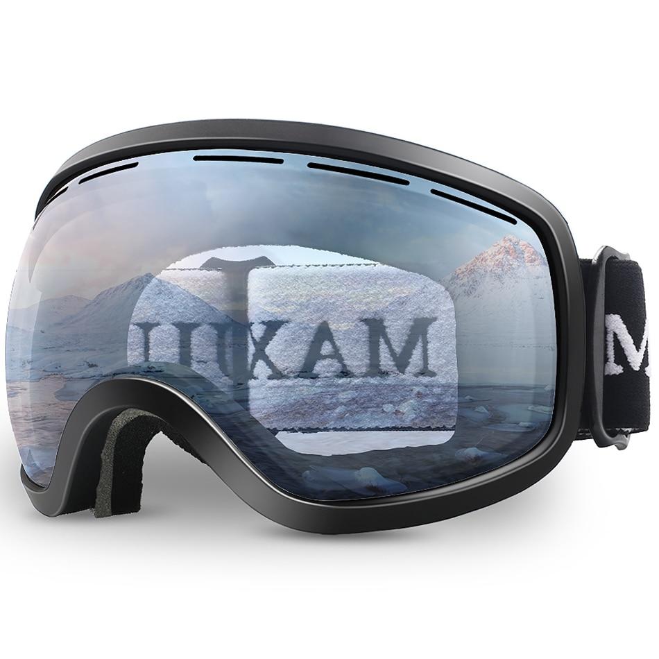 Лыжные очки, зимние снежные виды спорта, антизапотевающая маска с двойными линзами, лыжные очки, мужские и женские снежные очки M3