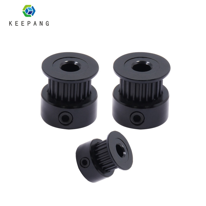 4pcs GT2 Timing Pulley synchronous wheel aluminum black 20 teeth bore 8mm 5mm for 2GT Timing Belt high 16mm 14mm 3d printer part