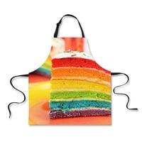 colorful rainbow cake girl design apron for women men