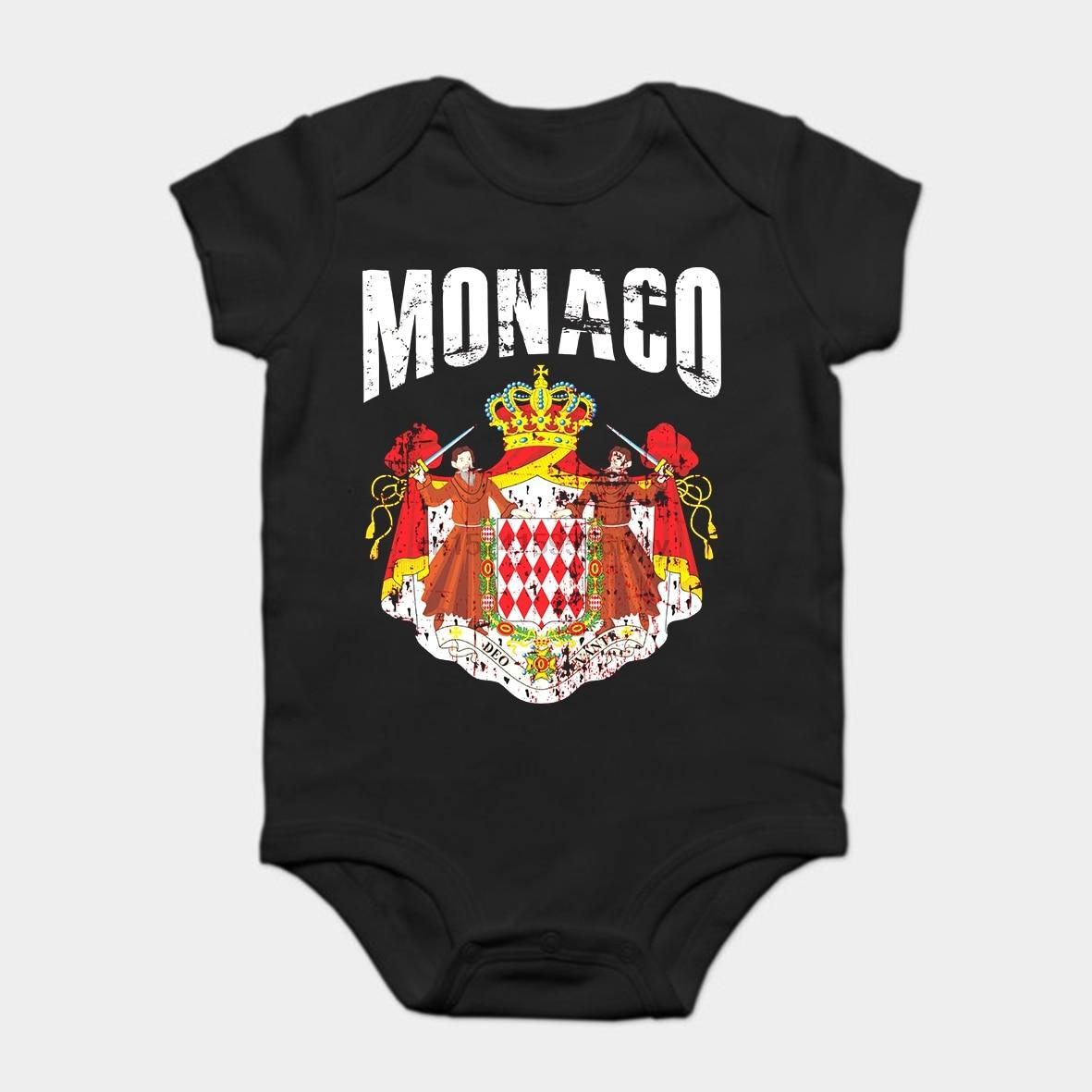 Bodysuits do bebê Macacão Bebê criança camiseta de Algodão Hot Summer Sale Kanada Homens & Jogador de Futebol Monaco Vintage Clássico Da Moda