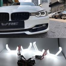 Kit dange yeux en cristal blanc   Phare de jour de Style M4, DRL pour BMW série 3 F30 320i 328i 335i 330i 318i 330e 340i 2013-17