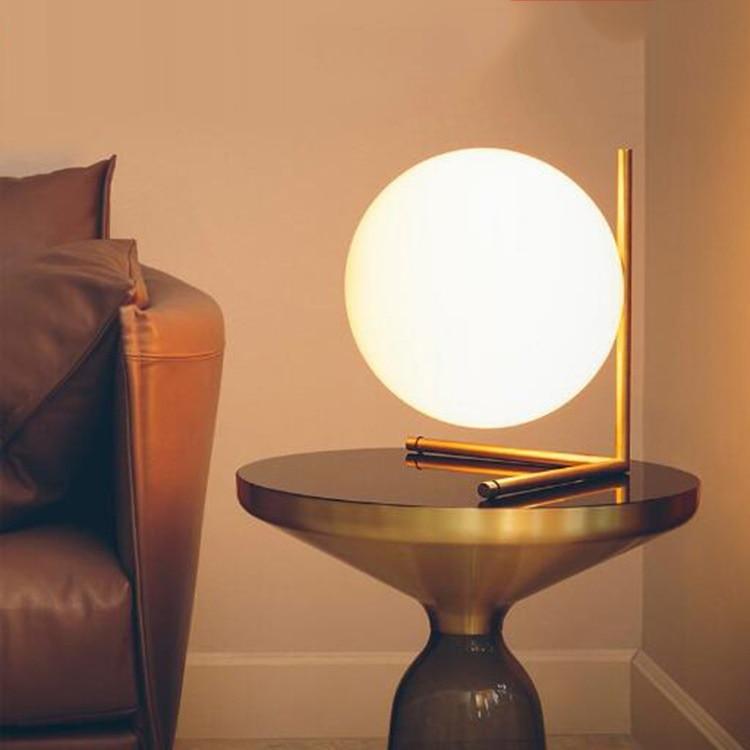 Lámpara de mesa de bola de decoración artística minimalista, diseño abstracto geométrico,...