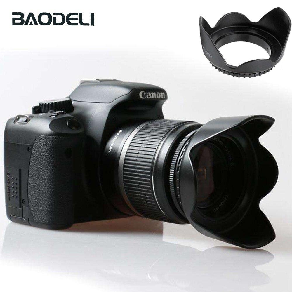 BAODELI 49 52 55 58 62 67 72 77 82 мм бленда объектива для Canon 77d 100d Sony A6000 Fujifilm Nikon D3000 D3500 D5100 D5600 аксессуары