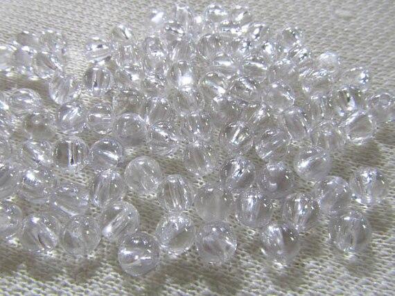 A granel zirconia cúbica CZ piedra preciosa roud bola de cristal liso blanco surtido de joyería cabujones 6mm 100 Uds