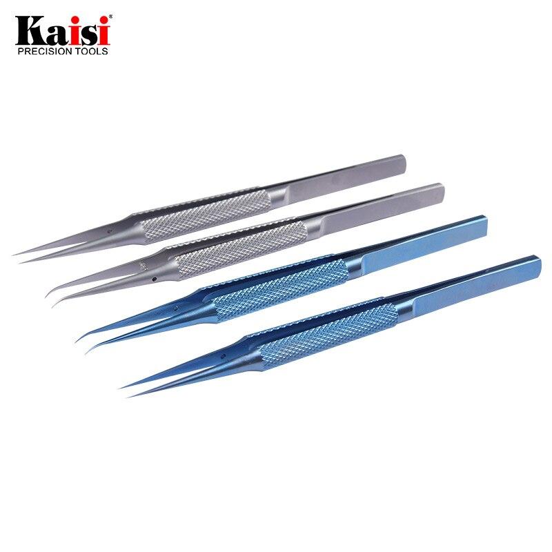 0,15mm reparación línea huella pinzas herramientas de reparación de teléfonos huella pinzas y 0,02mm placa base línea maintenanc