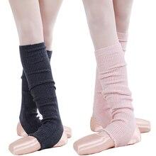 Adults Winter Leg Warmers Knitted Leggings Warmers For Dance Women Beenwarmers Girl Long Latin/Ballet Dance Sock Black Ballerina