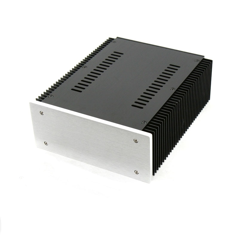 KYYSLB Diy Box Amplifier Housing Case Enclosure 211*90*257MM Heat Dissipation All-aluminum Power Amplifier Amp Chassis 2109