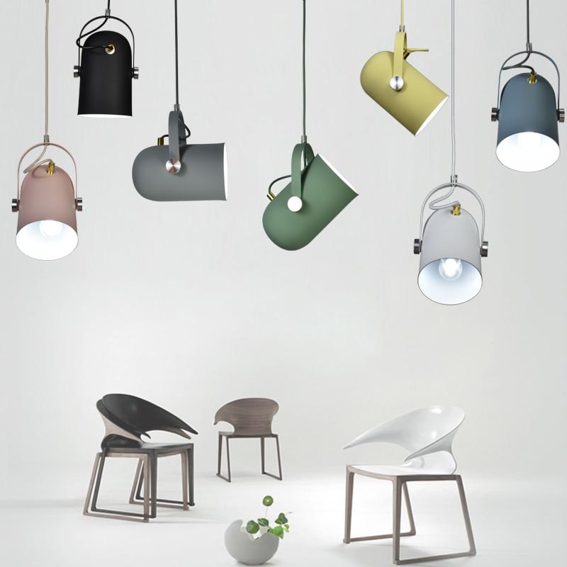 Nordic Minimalism droplight Angle adjustable E27 small pendant lights, Cabinet wardrobe bedside Bar Showcase spot lights