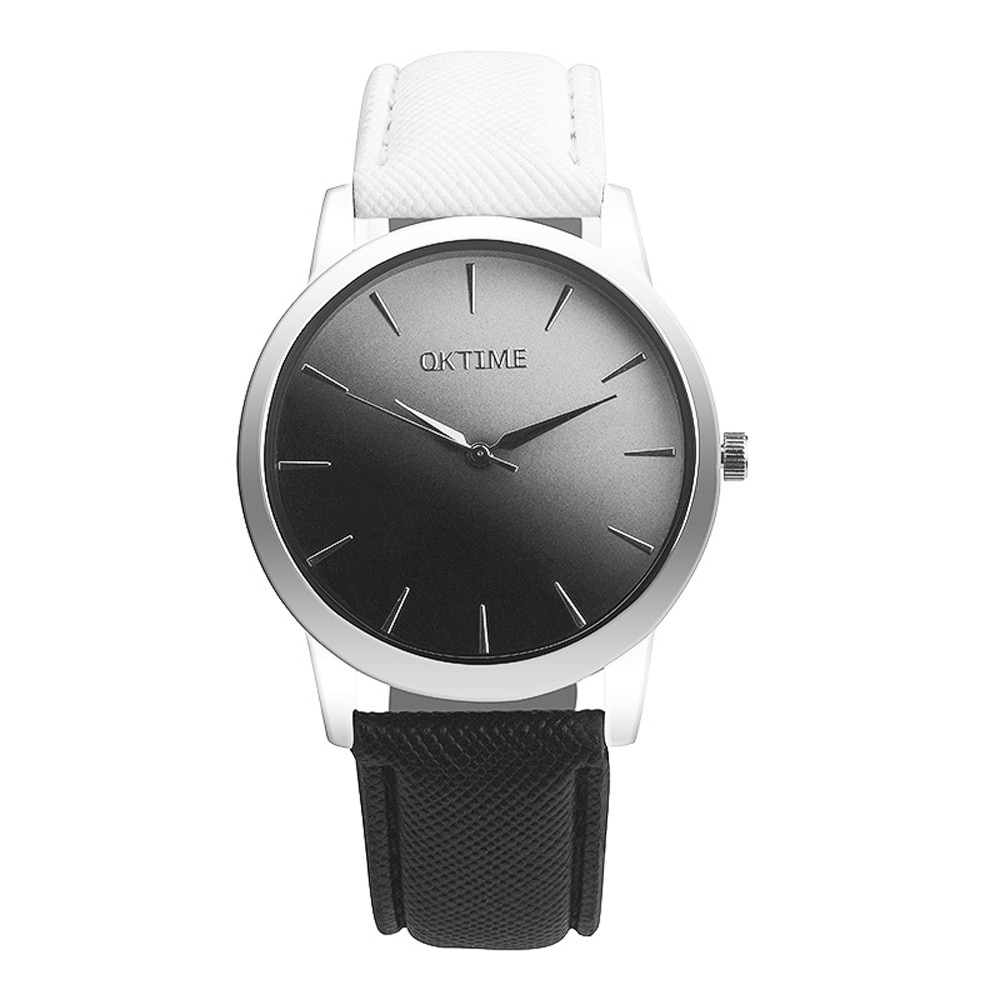 OKTIME, reloj de marca superior para hombre, reloj Retro de arco iris para mujer, reloj analógico de cuarzo para mujer, reloj de pulsera, reloj de mujer # N03