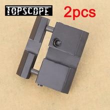 Livraison gratuite 2 pièces 11MM à 20 MM portée Rail support socle tisserand Picatinny à queue daronde adaptateur accessoires de chasse