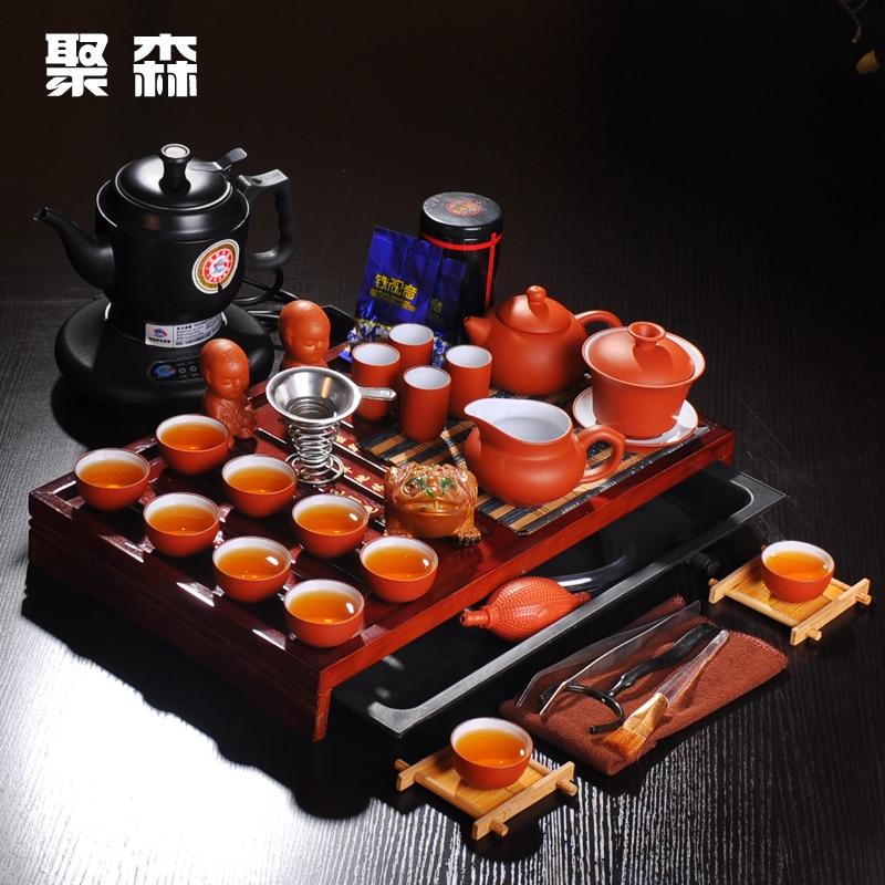 مجموعة ابريق شاي ابريق شاي بلون ارجواني اطقم شاي شاي شاي خشبي عرض خاص