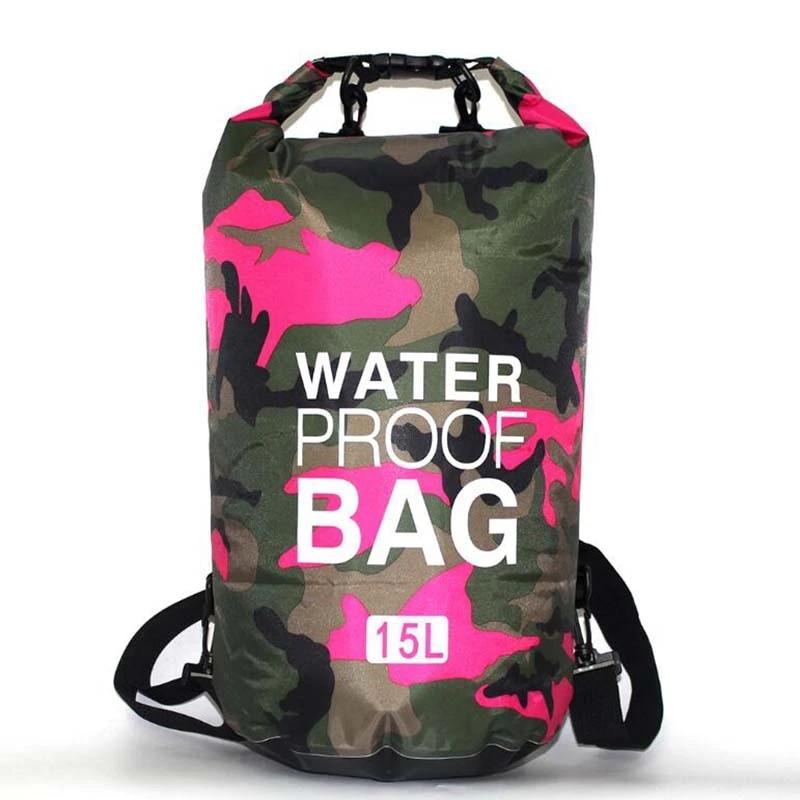 5l 10l 20l 30l Pvc Waterproof Dry Bag Camo Outdoor Diving Foldable Man Women Beach Swimming Rafting River Ocean Backpack Swimming Bags Aliexpress