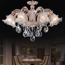 Luxury Crystal Chandelier Living Room Lamp lustres de cristal indoor Lights Crystal Pendants For Chandeliers