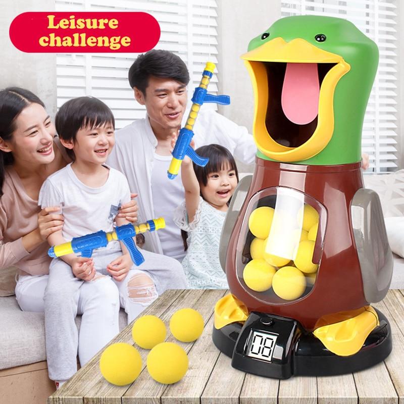 Shoot Hungry Duck Electronic Scoring Dynamic Music EVA Foam Ball Funny Novel Toys For Children Shooting Angry Lion Bear