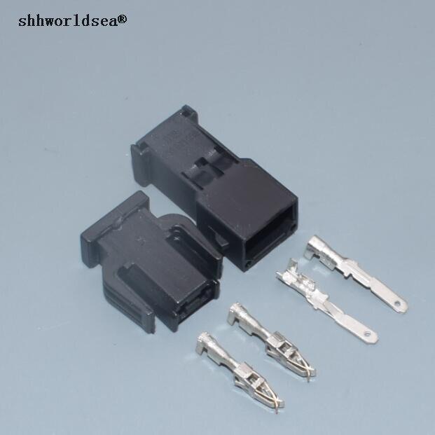 Shhworldsea 2 Pin Feminino Masculino Conector de Porta de Soquete Da Lâmpada de Luz Sensor De ABS Automotivo Uso Para VW 893 971 632/893 971 992