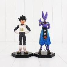 2 pièces/lot Dragon Ball Z végéta Beerus Dragon Ball PVC figurines à collectionner modèle jouet avec socle