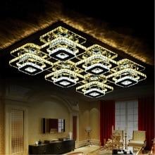 Plafonniers en cristal modernes de luxe salon chambre à coucher et lampes de plafond de loisirs commerciaux éclairage
