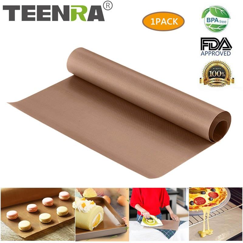 TEENRA 60x40cm Reusable Baking Mat Baking Sheet Heat-resistant Grill Mat BBQ Non-stick Cake Mat Ove Tools Bakeware