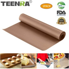 TEENRA tapis de cuisson réutilisable en téflon   60x40cm plaque de cuisson, tapis de gril résistant à la chaleur, tapis de gâteau antiadhésif pour BBQ, tapis de pâtisserie