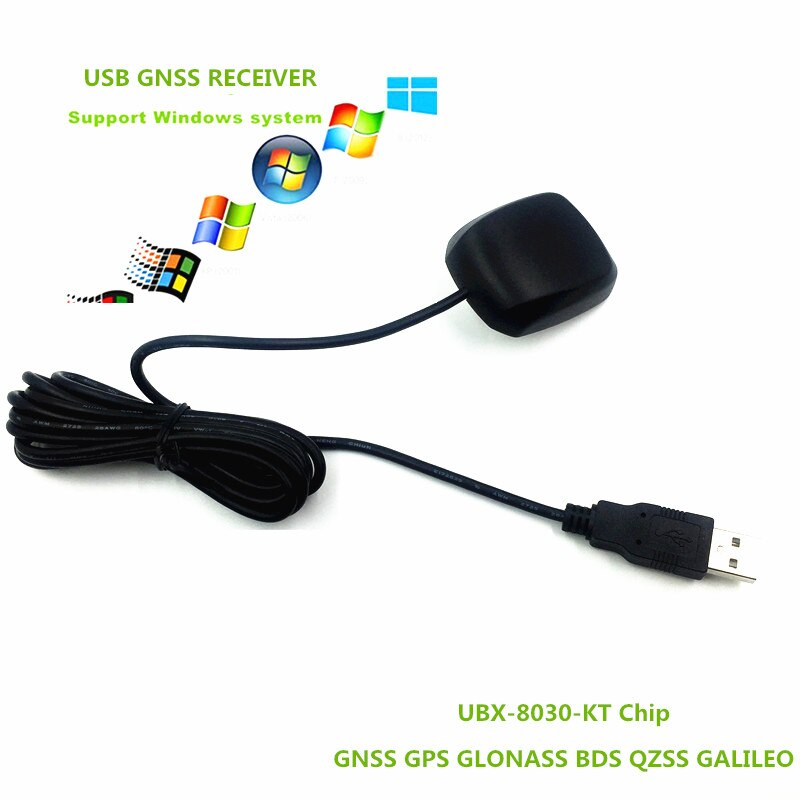 10 Uds FLASH USB gps receptor GNSS GLONASS módulo receptor antena Chip 8030 GNSS BDS receptor reemplazar BU353S4 NMEA 0183 5V