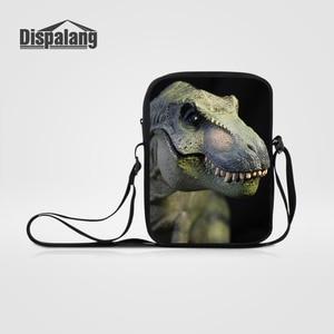 Dispalang Animal Dinosaur Print Messenger Bag For Boy Girl Small Schoolbag Children Shoulder Bag Mini Kids Kindergarten Book Bag