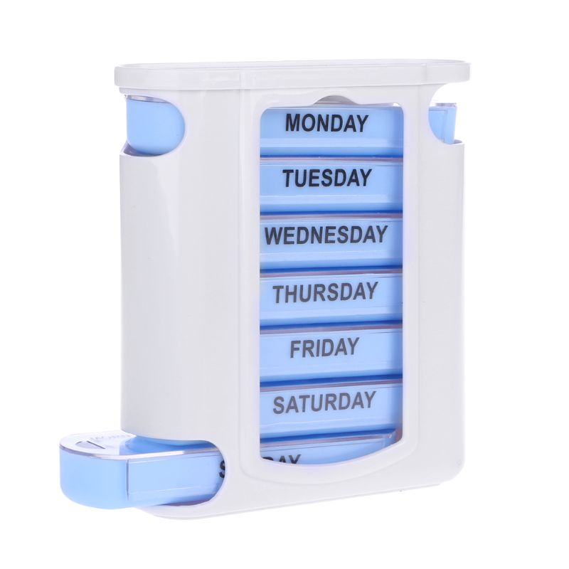 7 Day Weekly Pill Box Stacking Tower 4 Compartments Daily Tablet Personal Health Care Pill Case Spli