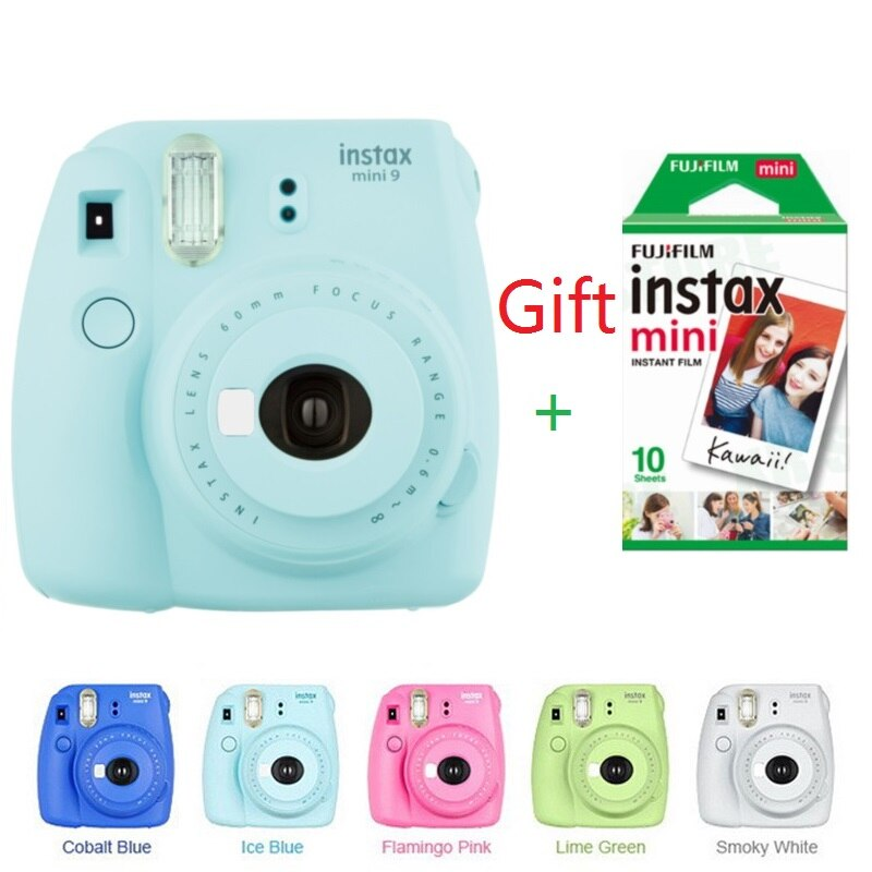 Fujifilm Instax Mini 9 мгновенная камера для Polaroid фото 5 видов цветов фотокамера Подарочная