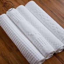 100% algodão pegada hotel flool tapete toalhas de banheiro absorvente tapetes antiderrapantes passo pé almofada tapetes de cozinha 75x45cm eaf010
