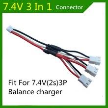 Syma X8C 3 en 1 prise adaptateur 7.4V 2s lipo batterie câble de charge 3P balance des blancs chargeur prise