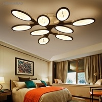 Postmodern Simple Living Room Ceiling Light Individuality Creative Bedroom Lamp Villa Tree Leaves Ceiling Lighting Fixtures