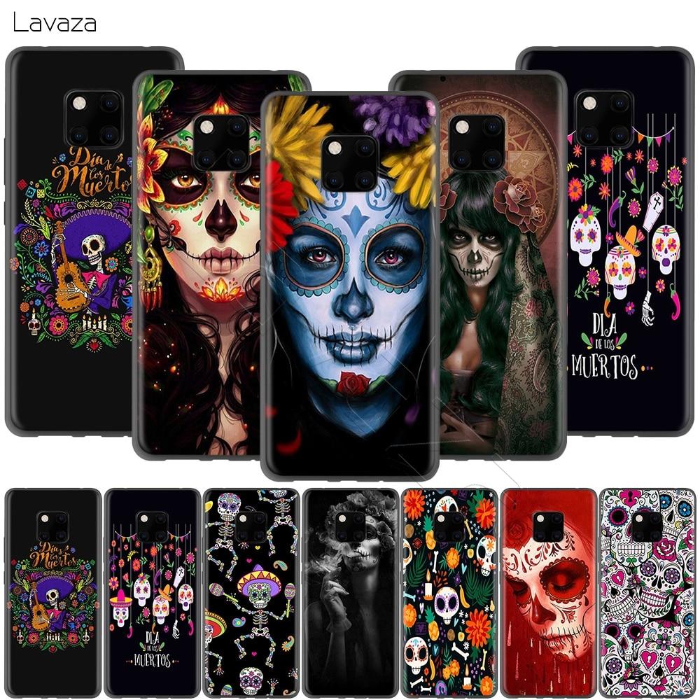 Day of The Dead Lavaza Feriado Mexicano Case for Huawei P30 P20 P10 P9 P8 Companheiro 20 10 Pro Lite P Inteligente 2017