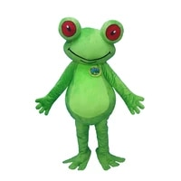 green frog custom mascot costume adult size animal cosplay costume with fan inside head for commercial advertising promotion