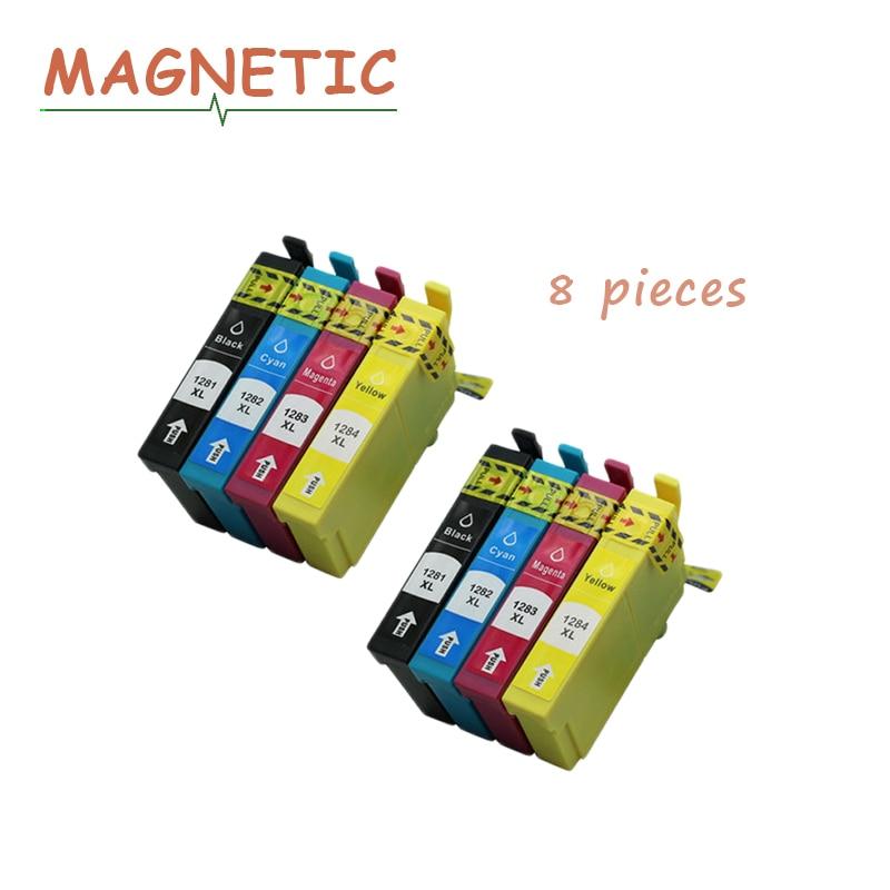 8pcs T1281 cartucho de tinta Compatíveis Cheia de Tinta para IMPRESSORA EPSON Stylus SX125 SX130 SX230 SX235W SX420W SX430W SX425W SX435 S22 impressora
