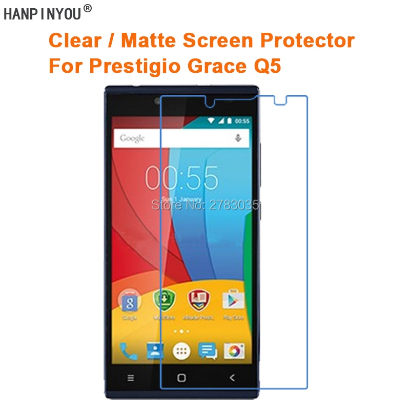 Clear Glossy / Anti-Glare Matte Screen Protector For Prestigio Grace Q5 5.0
