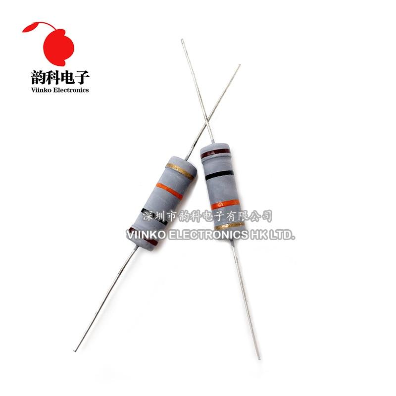 50pcs resistor de filme de carbono 5 w 5% 18 k 20 k 22 k 24 k 27 k 30 k 33 k 36 k 39 k 43 k 47 k 51 k 56 k 62 k 68 k 75 k 82 k 91 k 100 k 120 k 150 k ohm
