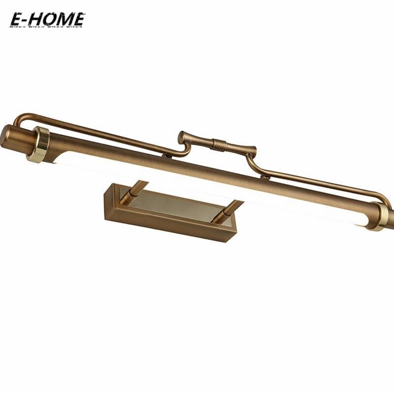 European cabinet lights LED cosmetic bronz front Full Copper Case waterproof Wall lamp retro Bathroom mirror