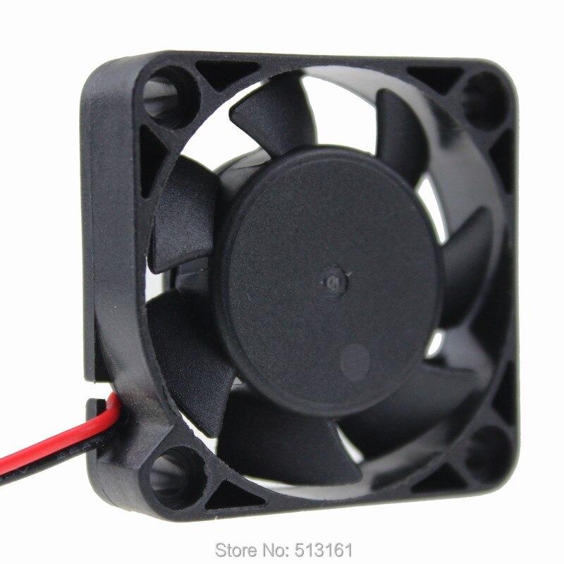 50 unids/lote ventiladores de refrigeración 40mm 4 cm 40x40x10mm 2Pin computadora 12 V 12 V de rodamiento de bolas ventilador