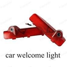 2 sztuk/partia Led Auto Logo godło lampa laserowa LED drzwi samochodu krok duch cień lampa projektora dla KIA Cerato witamy światła