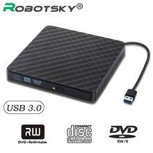 Super vitesse USB 3.0 externe DVD/cd-rom boîtier pour ordinateur portable ordinateur de bureau lecteur de disque optique SATA vers SATA boîtier externe DVD