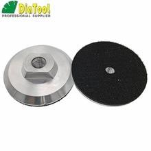 DIATOOL 2 uds. base de aluminio de 4 pulgadas almohadillas traseras para pulir Discos abrasivos disco abrasivo M14 rosca 100mm almohadilla de respaldo
