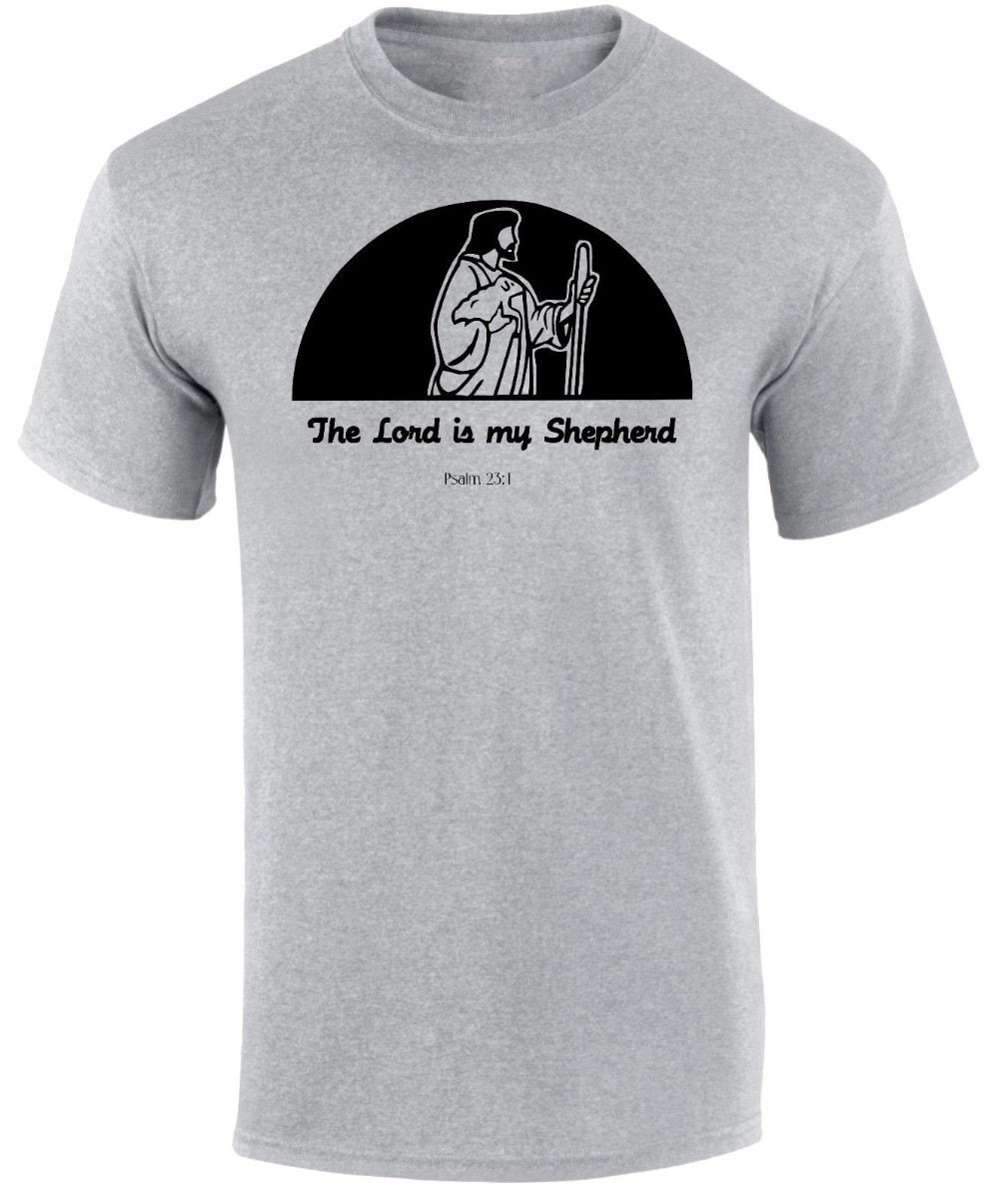 2019 verano camiseta el Señor es pastor Salmo 23 Biblia Jesucristo Navidad promesa hombres Camiseta cuello redondo Camiseta