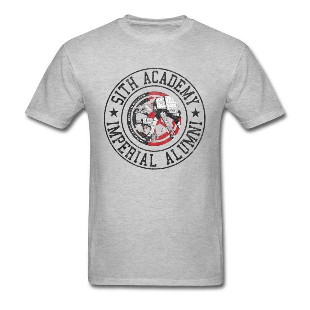 Camiseta Sith Star Wars Academy, camiseta gris de hombre, camisetas de algodón, camisetas de regalo de cumpleaños, ropa Vintage para hombre, camiseta de Comics XXL