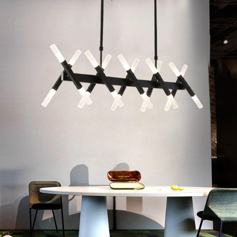 مصباح سقف LED أكريليك ، 20 رأس ، أجهزة ، أسود ، شمالي ، بسيط ، قابل للتعديل ، DIY ، ديكور ، منزل متنقل ، إلخ.