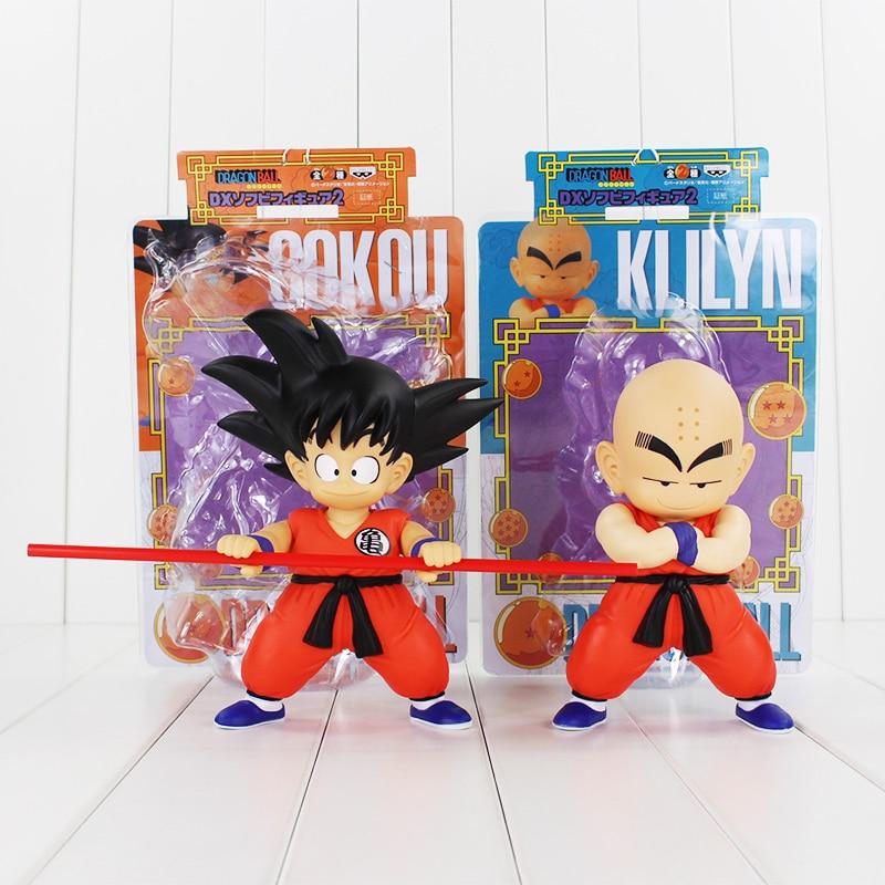 2styles Anime Cute Rotatable Dragon Ball Z Goku Krillin Figure Toy Son Gokou Kuririn Childhood Model Doll Children Gift