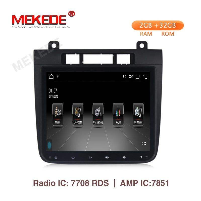 MEKEDE 8,4 pulgadas 2 din android 9,1 2 + 32G DVD del coche de navegación gps para VW Volkswagen TOUAREG 2012-2015 radio wifi quad core