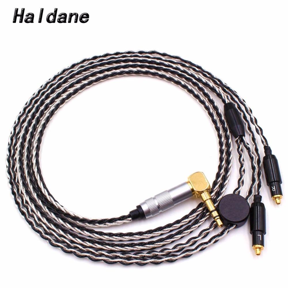 Free Shipping Haldane 1.2Meter DIY 8 Cores Headphone Upgrade Cable for SRH1440 SRH1840 SRH1540 Headphones